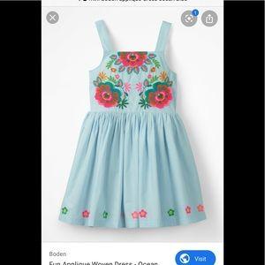 Mini Boden appliqué Spring Dress  7-8yr